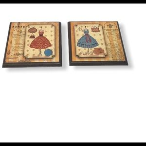 Decorative French dress plaques